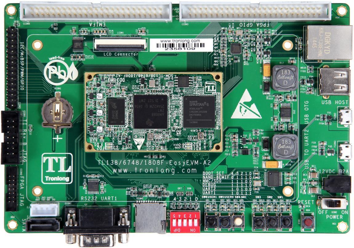 图21 同时赠送C6748开发板光盘资料,而且提供的C6748全部例程源码均有详细的中文注释,和开发51单片机一样简单。以下为提供的C6748开发例程: 基于StarterWare的Demo例程演示 (1) DEMO综合例程 (2) GPIO_LEDGPIO输出(LED灯) (3) GPIO_KEYGPIO输入(按键中断) (4) GPIO_KEY_EDMA按键触发EDMA事件 (5) GPIO_KEY_TIMER_EventCombine按键及定时器中断 (6) TIMER定时器